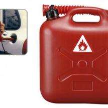 Gasoline Reserve Tank Plastik in rood 5L