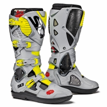 SiDi Crossfire 3 SRS boots - Black/Ash/Yellow Fluo - Size 42