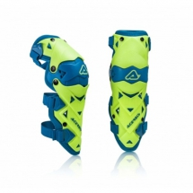 ACER. IMPACT EVO 3.0 KNEE GUARDS - Yellow Flu/Blue
