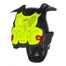 ALPIN. A-4 CHEST PROTECTOR - YELLOW FLUO RED