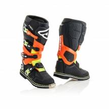 Acerbis X-Rock boots - Black/Orange Fluo - Size 43