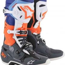 Alpinestars Tech 10 C Grey/ Orange Fluo/Blue - Size 44.5