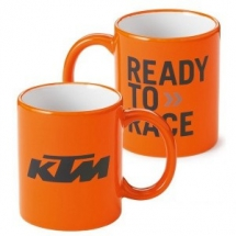 KTM coffee mug with logo-print.  100 % chinaware.