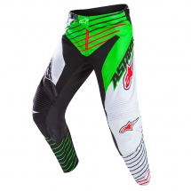2017 Alpinestars Racer Braap Pants LE Vegas - Black White Green Fluo