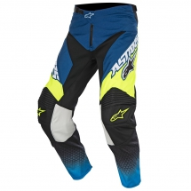 2017 Alpinestars Racer Supermatic Pants - Dark Blue Cyan Yellow Fluo
