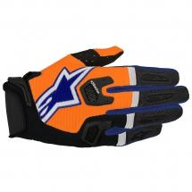 2017 Alpinestars Racefend Gloves - Orange Fluo Dark Blue White