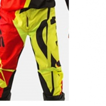 2017 Acerbis MX-Profile Pants - red/fluo yellow