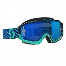 SCOTT HUSTLE MX GOGGLE blue/teal / Elec. blue